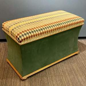 Large Victorian Country House Mahogany Upholstered Ottoman