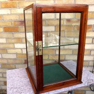 Edwardian Mahogany Glazed Shop Counter Top Display Case