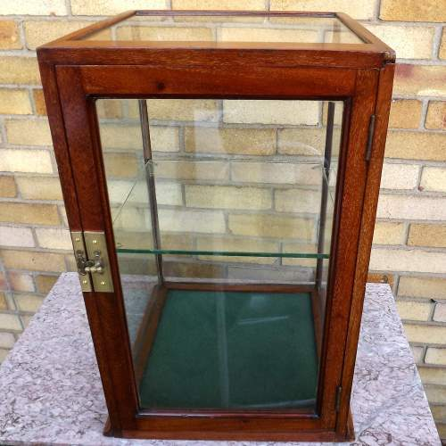 Edwardian Mahogany Glazed Shop Counter Top Display Case image-2