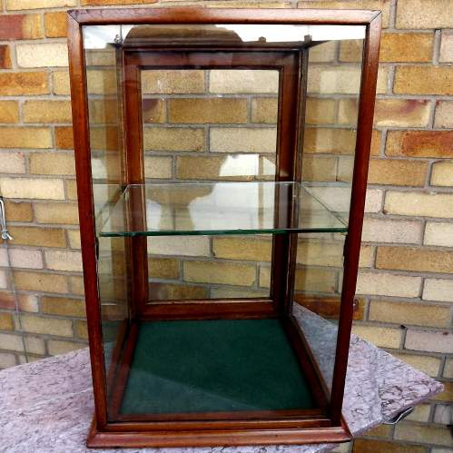 Edwardian Mahogany Glazed Shop Counter Top Display Case image-5