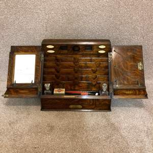 Victorian Oak Stationary Cabinet