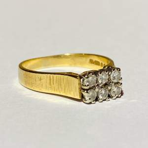 Vintage 18ct Gold Six Stone Diamond Ring