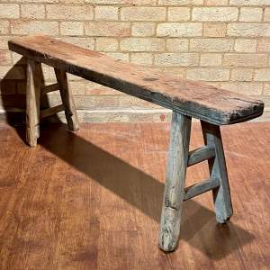 Long Vintage Rustic Bench