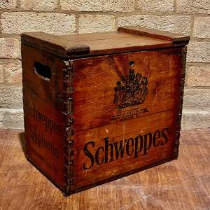 Mid 20th Century Schweppes Lidded Crate