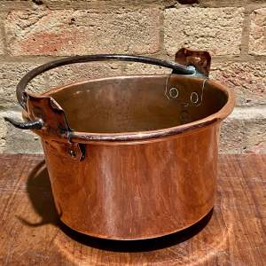 Vintage Copper Hanging Cooking Pot