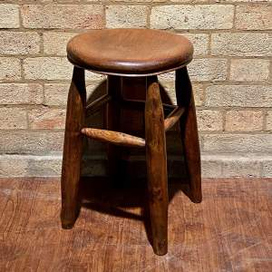 Vintage Oak Kitchen Stool