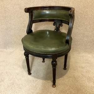 Mid 20th Century Mahogany Office Tub Chair