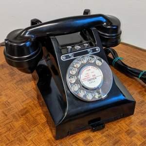 Vintage Black Bakelite 328L GPO Telephone