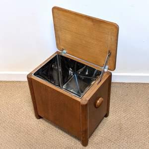 Art Deco Cellarette Wine Cooler Storage Box