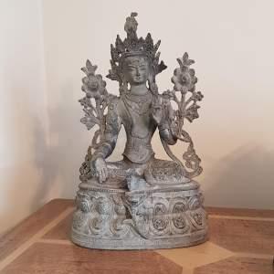 Large Bronze Statue of a Female Buddha