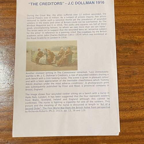 Original 1916 Photogravue Print Of The Creditors image-5