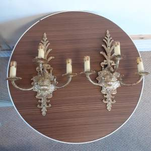 Decorative Pair of Mid Century Electric Wall Lights