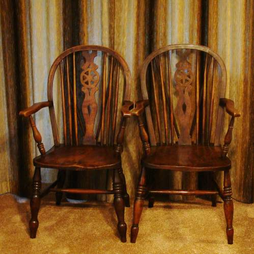 A Pair of  Victorian Windsor Chairs image-1