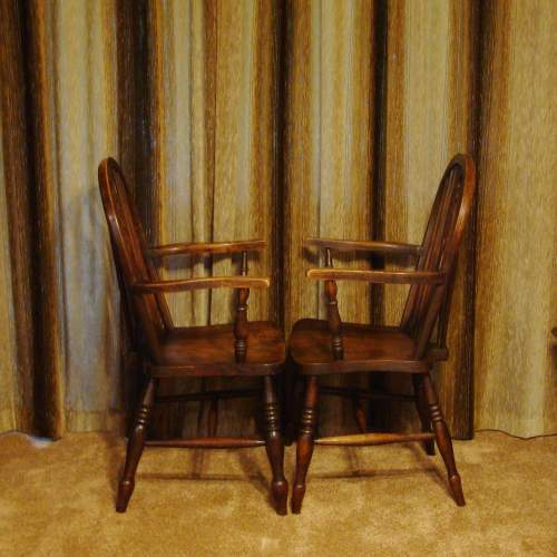 A Pair of  Victorian Windsor Chairs image-6