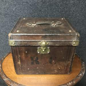 A Quality Leather Travelling Case with Brass Fittings