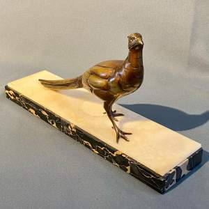 20th Century Bronze Pheasant Figure