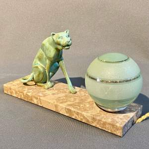 20th Century Art Deco Panther Lamp