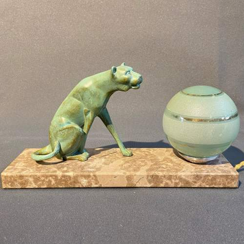 20th Century Art Deco Panther Lamp image-2