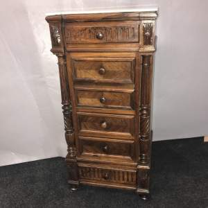 A 19th Century French Marble Top Cabinet and Drawers