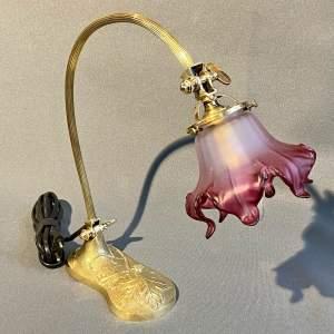 20th Century French Bronze Vineyard Desk Lamp
