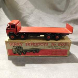 Rare Dinky Toys 503 Foden Flat Truck with Tailboard Red Boxed