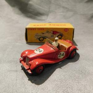 Dinky Toys 108 MG Midget Competition in Red with Box issued 1955