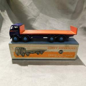 Dinky Toys 503 Foden Flat Truck with Tailboard Blue Orange Boxed