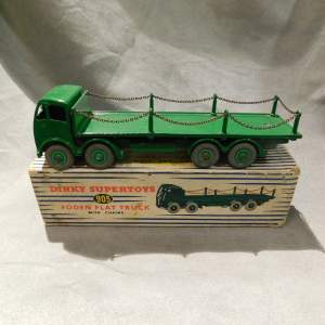 Dinky Toys 905 Foden Flat Truck with Chains Original Boxed