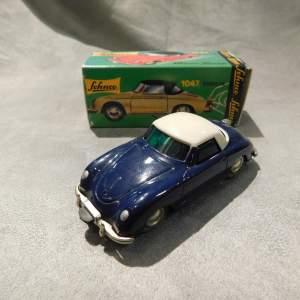 Schuco Porsche 356 Clockwork Car with Key in Box