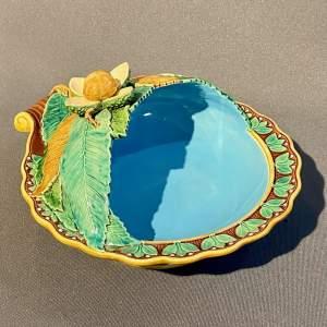 19th Century Mintons Majolica Chestnut Bowl