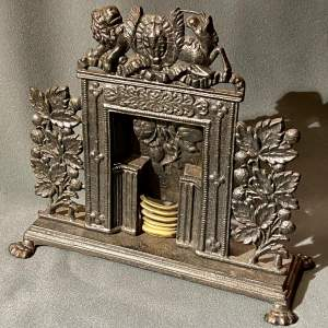 Victorian Cast Iron Miniature Fireplace