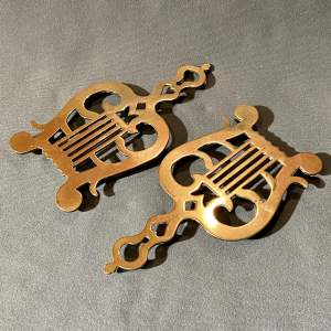 Victorian Pair of Solid Brass Trivets