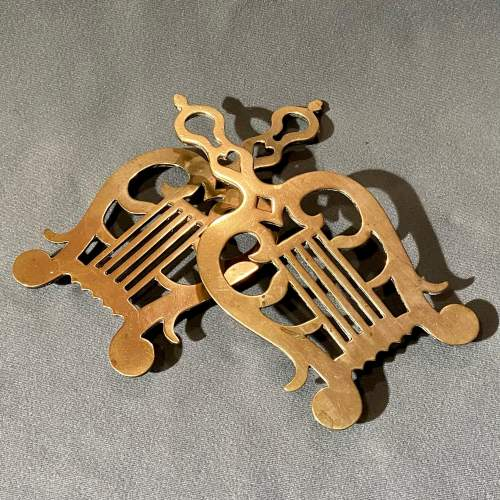 Victorian Pair of Solid Brass Trivets image-2