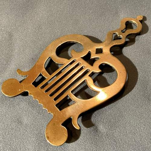 Victorian Pair of Solid Brass Trivets image-3