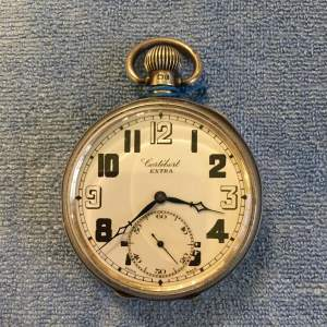 Swiss Silver Pocket Watch Birmingham 1928