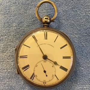 Silver Pocket Watch London 1882 Fusee Movement