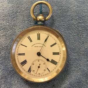Swiss Silver Pocket Watch Stamped 935