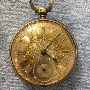 Silver Pocket Watch London 1876 With Fusee Movement