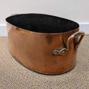 19th Century Two Handled Copper Pan  - Ice Bucket or Wine Cooler