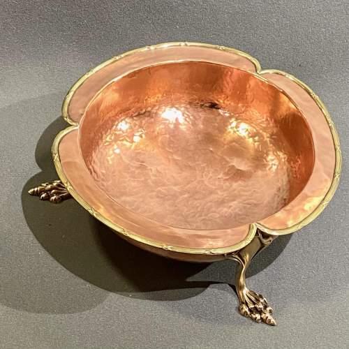 Handmade Art Nouveau Copper Bowl image-2