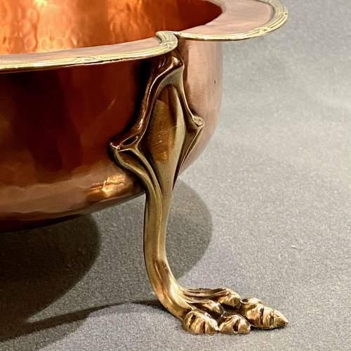 Handmade Art Nouveau Copper Bowl image-3