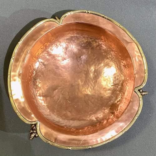 Handmade Art Nouveau Copper Bowl image-5