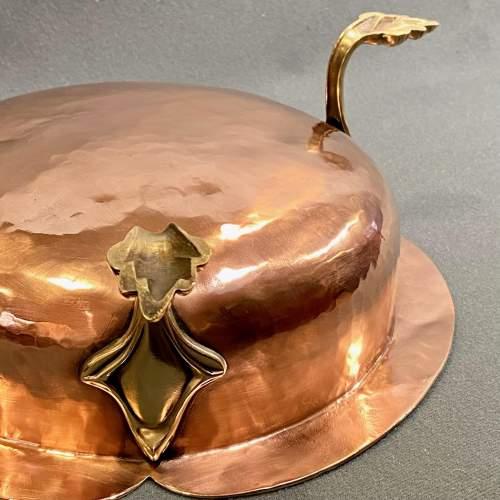 Handmade Art Nouveau Copper Bowl image-6