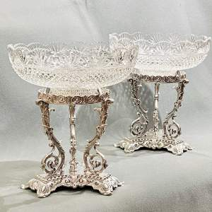 Pair of Victorian Silver Plated Decorative Table Centrepieces
