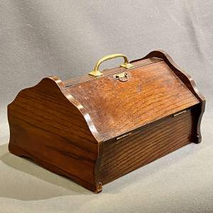 Vintage Oak Shoe Cleaning Box