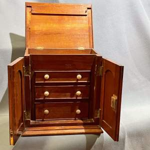 Victorian Walnut Collectors Chest