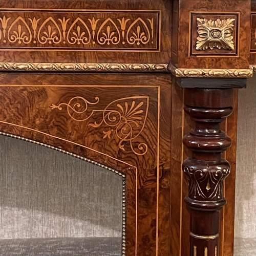 Victorian Inlaid Burr Walnut Credenza image-4