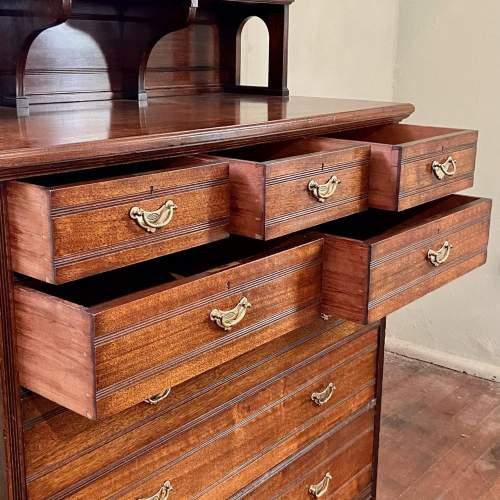 Unusual 19th Century Walnut Cabinet on Chest image-3