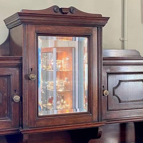 Unusual 19th Century Walnut Cabinet on Chest image-2