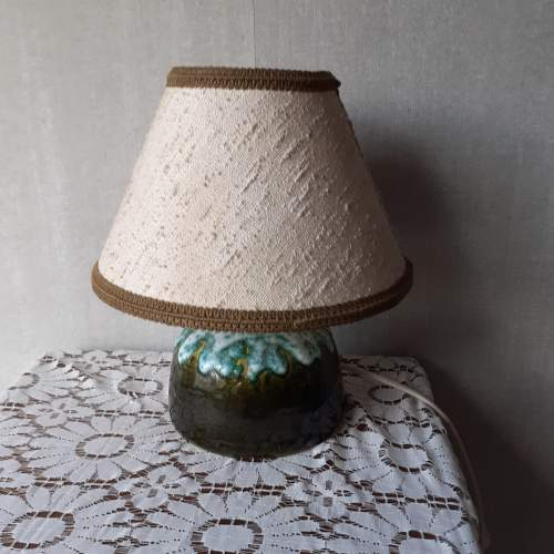 West German Vintage Fat Lava Ceramic Lamp image-1